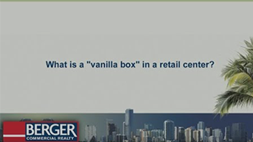 What is a vanilla box in a retail center?