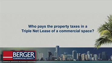 Who pays the property taxes on a commercial space?
