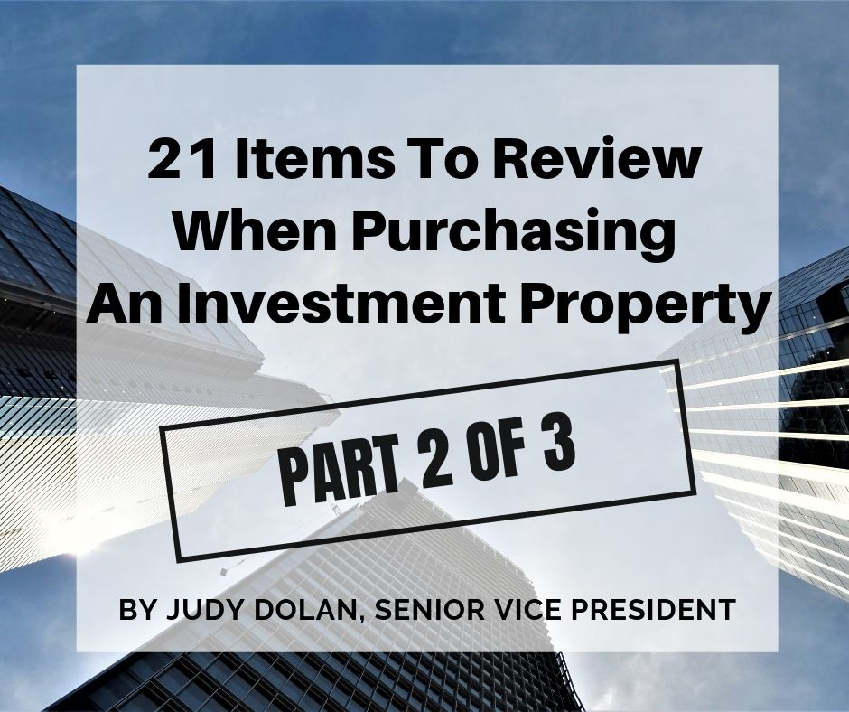 21 Items To Review When Purchasing An Investment Property-  Part 2