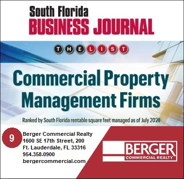 Berger Commercial Realty Ranked Among Top Property Management Firms By The South Florida Business Journal
