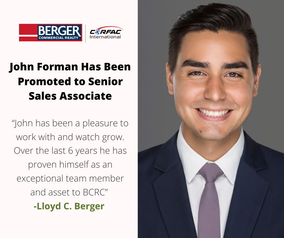 John Forman Has Been Promoted to Senior Sales Associate