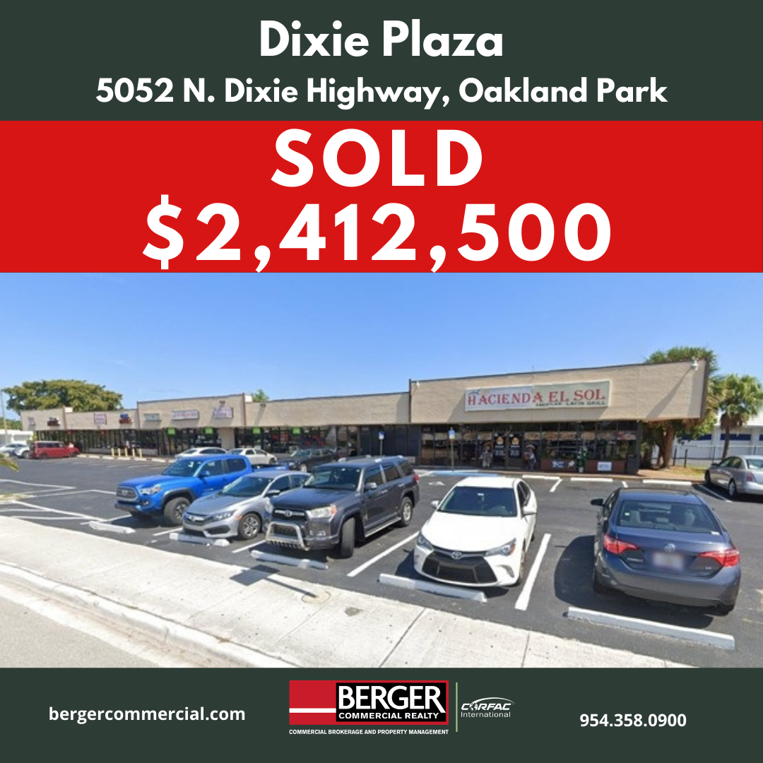 Berger Commercial Realty's Lawrence Oxenberg Negotiates Sale Of Oakland Park Retail Plaza