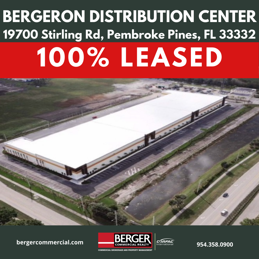 Berger Commercial Realty's Keith Graves, John Forman And Jonathan Thiel Negotiate 44,000-SF Expansion For Logistics Firm