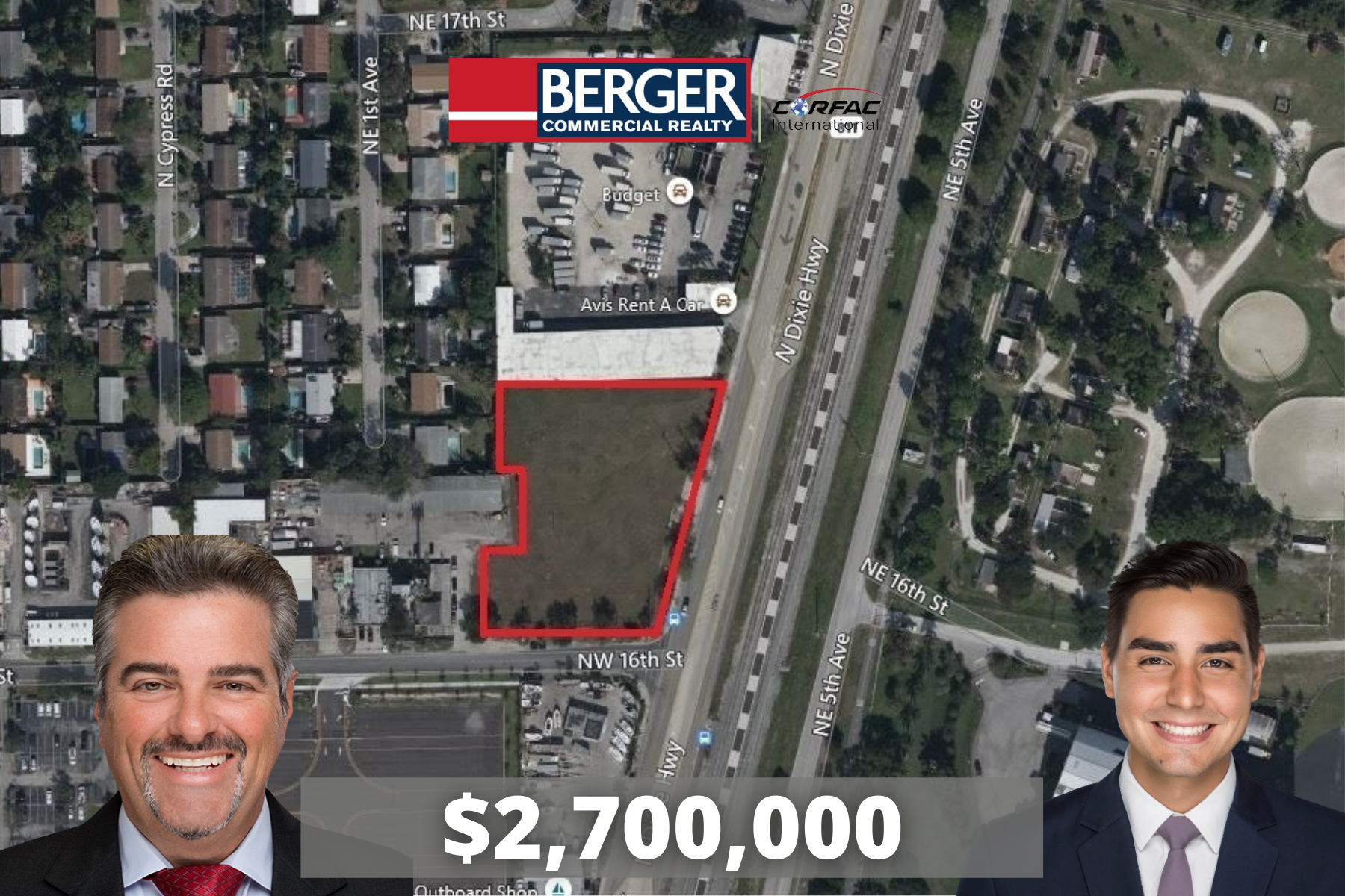 Berger Commercial Realty Negotiates Sale Of One Of The Last Remaining Industrial Zoned Parcels On Dixie Highway In Pompano Beach